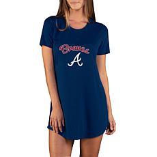 Concepts Sport Marathon Ladies Knit Nightshirt - Braves