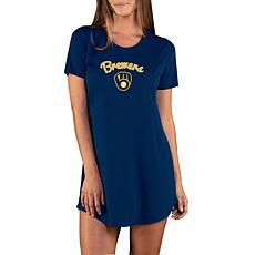 Concepts Sport Marathon Ladies Knit Nightshirt - Brewers