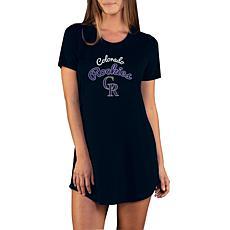 Concepts Sport Marathon Ladies Knit Nightshirt - Rockies