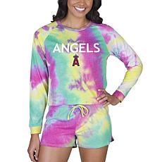 Concepts Sport MLB Velodrome Ladies LS Top and Short Set - Angels