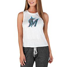 Concepts Sport Officially Licensed MLB Ladies Knit Tank Top Marlins