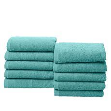 Concierge Collection 100% Turkish Cotton Resort 10-piece Washcloth Set
