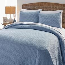 Concierge Collection 3-piece Houndstooth Quilt Set