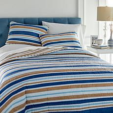 Concierge Collection Coastal Inspired 3-piece 100% Cotton Quilt Set