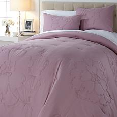 Concierge Collection Crewel Applique 3pc Comforter Set
