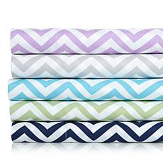 Concierge Collection Elements Chevron Sheet Set - Twin