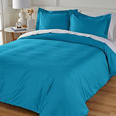 Concierge Collection Wrinkle-Resistant 100% Cotton Duvet Cover Set