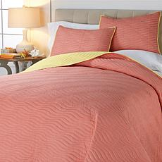 Concierge Elements Reversible 3pc Wave Coverlet Set