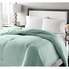 Concierge Platinum 350TC Damask Stripe Down Comforter - Full/Queen