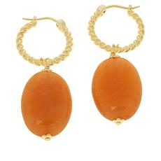 Connie Craig Carroll Jewelry Claire Carnelian Twisted Rope Earrings