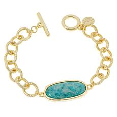 Connie Craig Carroll Jewelry Kate Oval Gemstone Toggle Bracelet