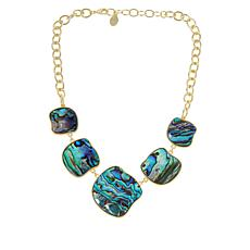 """Connie Craig Carroll Jewelry Morgan 18-1/2"""" Abalone Station Necklace"""