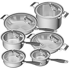 CookCraft 12-Piece Tri-Ply Stainless Steel Grand Cookware Set