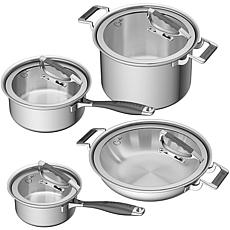 CookCraft 8-Piece Tri-Ply Stainless Steel Luxury Cookware Set