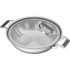CookCraft by Candace 3Q TriPly StainlessSteel DualHandle Casserole Pan