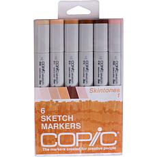 Copic Sketch Markers 6-pack - Skin Tones 1