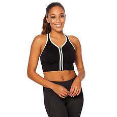 Copper Fit™ Racerback Zip-Front Sports Bra