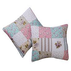 Cottage Collection 100% Cotton Stitched Euro Sham 2-pk - Patchwork