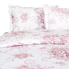 Cottage Collection Toile 400TC 100%Cotton Duvet Set-F/Q