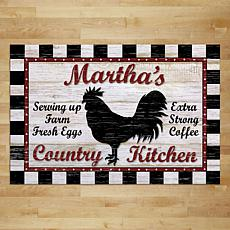 Country Kitchen Personalized Doormat with Name