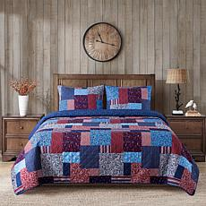 Country Living Home Collection Big Patch 3-piece Printed Quilt Set
