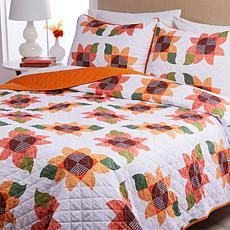 Country Living Home Collection Harvest Quilt Set - Sunflower