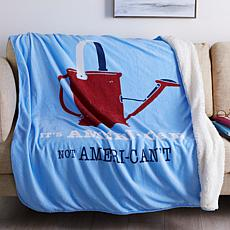 Country Living Home Collection Icon Plush Throw - It's American