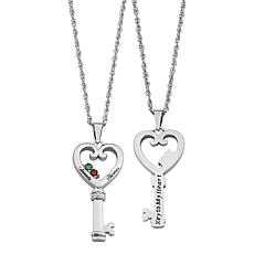 "Couples' ""Key to My Heart"" Pendant with Rope Chain"