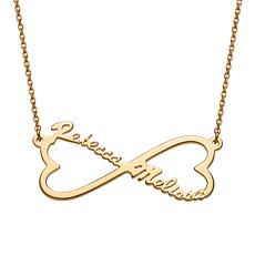 Couple's Names Heart Infinity Necklace