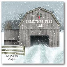 Courtside Market Christmas Tree Farm 24x24 Canvas Wall Art