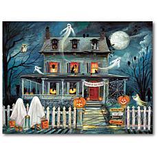 "Courtside Market Haunted House I 18""x 26"" Canvas Wall Art"