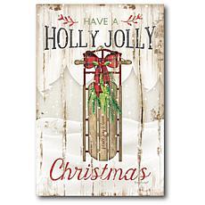 Courtside Market Holly Jolly 18x26 Canvas Wall Art