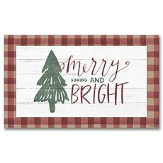 Courtside Market Merry and Bright 12x24 Canvas Wall Art
