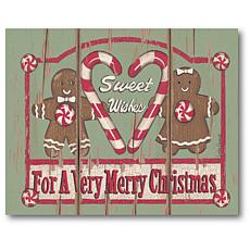 Courtside Market Sweet Wishes Gingerbread 16x20 Canvas Wall Art
