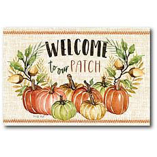 """Courtside Market Welcome To Our Patch 12""""x18"""" Canvas Wall Art"""