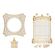 Couture Creations Cut, Foil and Emboss Cage Window Dies