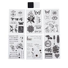 Craft Factory Creations Nature's Garden Stamps and Ink Pad