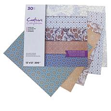 "Crafter's Companion 30-pack 2-Sided 12"" x 12"" Paper - Tile Print"
