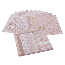 """Crafter's Companion 36-Sheet 12"""" x 12"""" Rose Gold Paper Pad"""