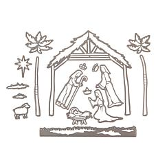 Crafter's Companion Away in a Manger Christmas Die
