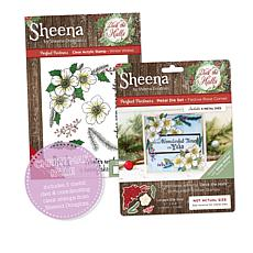 Crafter's Companion Christmas Rose 13-piece Stamp and Die Set