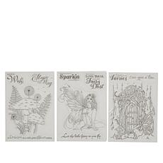 Crafter's Companion Clear Fairy Stamps Set of 3
