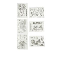 Crafter's Companion Donna Ratcliff Christmas Stamps 6-pack