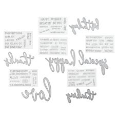Crafter's Companion Fancy Font Stamp and Die Set with Auto-Ship®