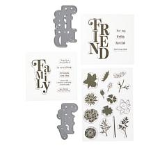 Crafter's Companion Friend & Family Cascading Sentiment Stamp/Die Set
