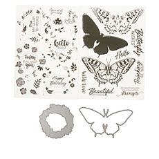 Crafter's Companion Gemini Elements Nature Layering Stamp and Die Set