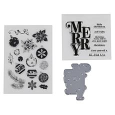 Crafter's Companion Gemini Merry Christmas Cascading Stamp and Die Set