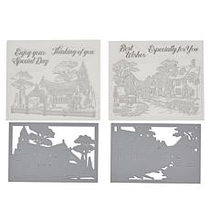 Crafter's Companion Gemini Scenic Village Stamp and Die Set