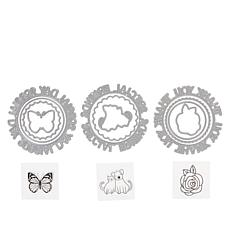 Crafter's Companion Gemini Sentiments Circular Stamp and Die Sets
