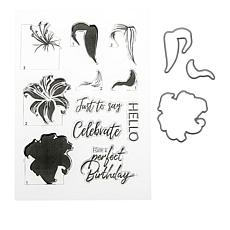 Crafter's Companion Lily Layering Stamp and Die Set